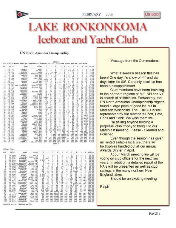 LRIYC February 2016 Newsletter click for full file.
