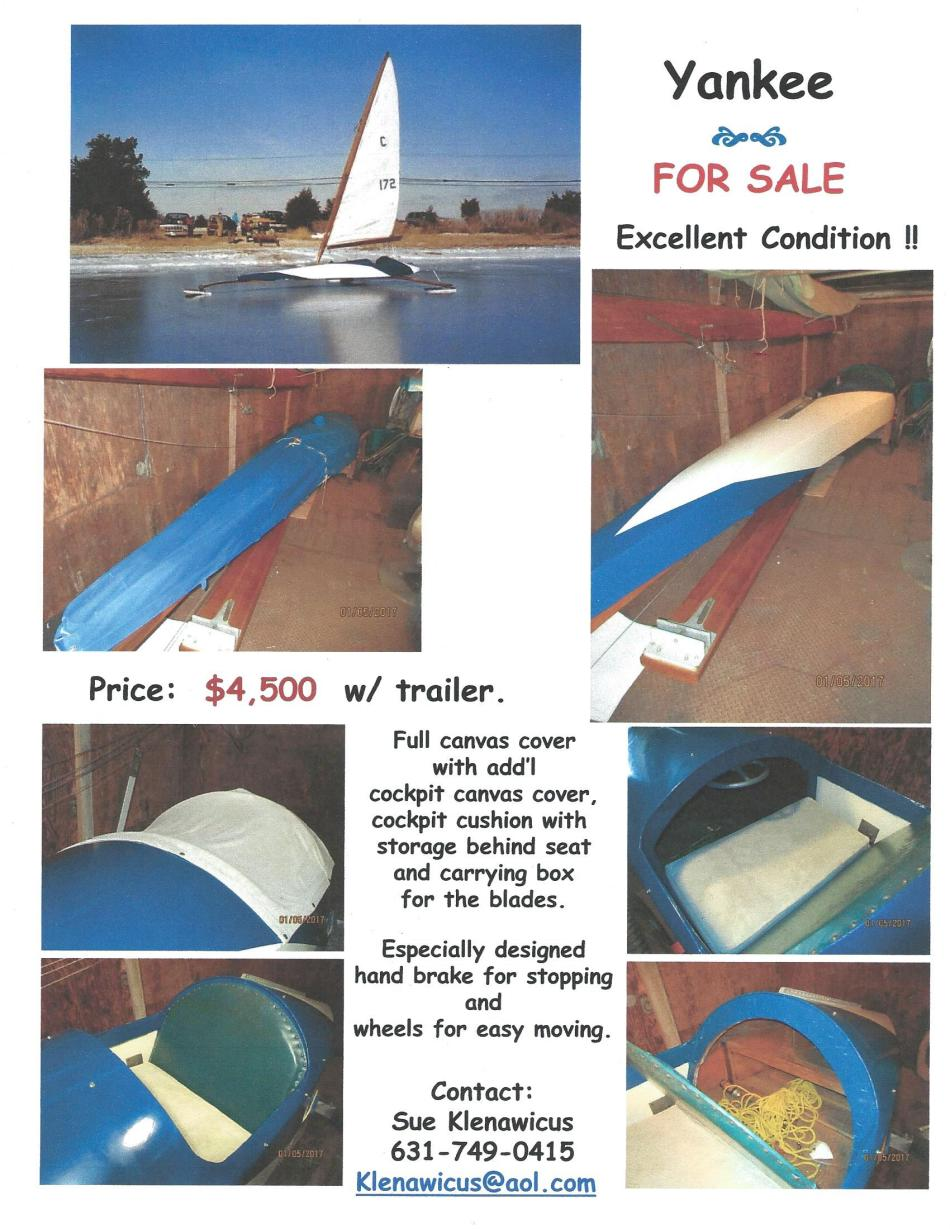 Yankee Ice Boat For Sale